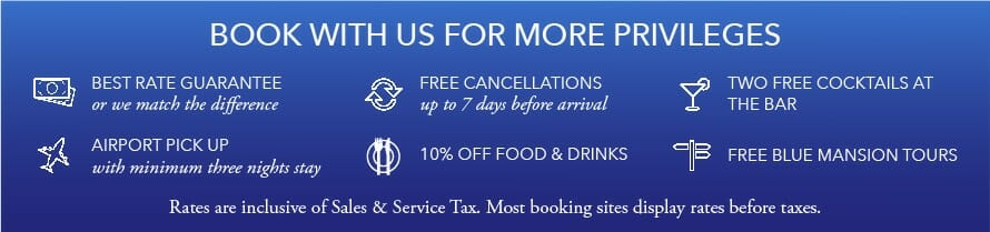 Book with us for more privileges